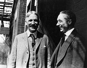 Philosopher and education reformer, John Dewey with F.M. Alexander, the founder of the Technique